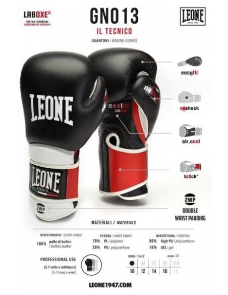 Leone Boxhandschuh Technical Leder schwarz