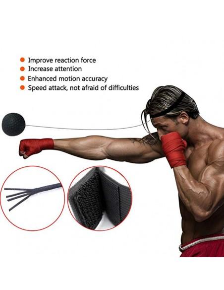 Boxen Training Ball Boxing Reflex Ball f/ür das Training von Reflex Reaktion Beweglichkeit und Auge-Hand-Koordination Einfach Zu Bedienen F/ür Kinder//Erwachsene GWL Boxen Reflex Ball