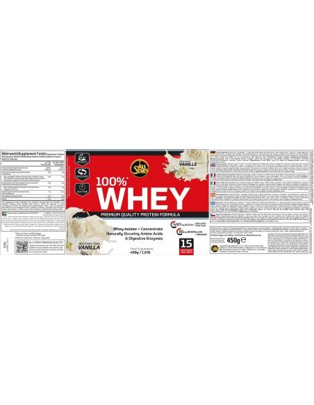 All Stars 100% Whey Protein 450g Etikett