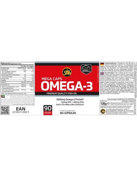 All Stars Omega 3 Kapseln 90 Stk  Etikett