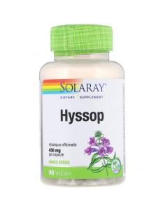 Solaray Hyssop kompletter oberirdischer Teil 450mg 90 Stk