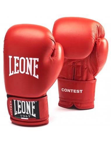 Leone Boxhandschuh Contest Buffalo Leder Rot