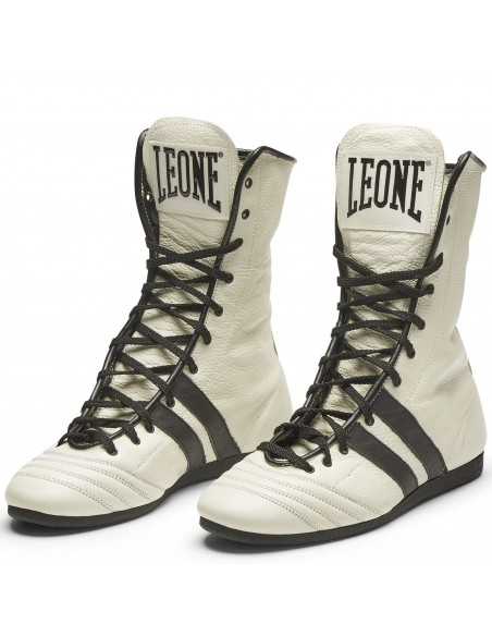 Leone Boxstiefel Handgefertigt Leder Weiss
