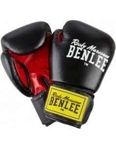 Benlee Fighter Boxhandschuhe Leder Schwarz